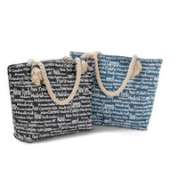 good quality Casual Letters Printed Beach Bag Women Jean Den...