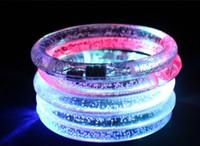 2019 Nouveau Bracelet Lumineux Flash Bracelet Acrylique Bracelet Cadeau Pour Enfants Petits Cadeaux Vente Chaude Lumineux
