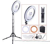Câmera foto estúdio telefone telefone 55w 240 pcs LED anel luz 5500k fotografia dimmable maquiagem anel lâmpada com 180cm tripé llfa