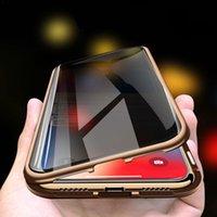 Max Casos Magnéticos para iphone x XR XS 11 Pro Privacidade Metal Phone Case Coco 360 ímã Preven- Peeping