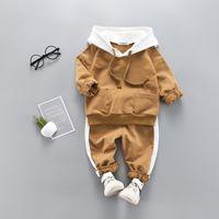 Hohe Qualität Baby Junge Kleidung Set Mit Kapuze + Hose 2019 Herbst Winter Sport Kinder Jungen Kleidung Trainingsanzüge Kinder Outfit Kleidung T200707