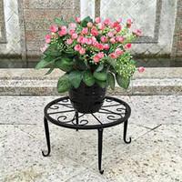 Metallo vaso Shelf Flower Pot coperta pianta basamento esterno succulente Piante Fiore Base del supporto della cremagliera Garden Home Decor Holder