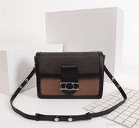 Borse catena di lusso spalla di disegno di modo originale donne di alta qualità Dauphine Messenger Bag Classic Style Genuine Leather Purse FRIZIONI EV