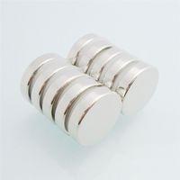 10pcs de alta calidad súper fuertes N52 Dia14x2.5mm Neodyminum botón magnético raras de neodimio imanes de tierra a estrenar Materiales magnéticos