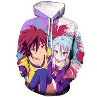 Anime NO GAME NO LIFE-Shirts Life Of Game 3D drucken Männer / Frauen beiläufige Art und Weise T-Shirt Hip Hop Pullover UnisexHoodie T200508