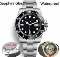 2020 Glide Lock New Top Ceramic Bezel Saphir Saphir Mens 2813 Mouvement automatique Mécanique SS Fashion Watch