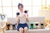 2019 heiße kreatives Plüschspielzeug Dressing Sand Hund Puppe trägt Hut niedliche Welpe Puppe Plüschspielzeug-Hochzeitsgeschenk-Puppe