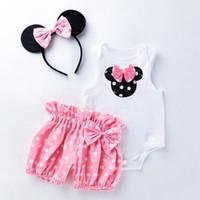 3pcs 1 conjunto recém-nascido bebê macacão sem mangas menina menino roupas macacos casuais com boca headband ponto calça trajes ljjk2206