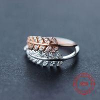 popular adjustable Punk rings Creative foliage shaped Rings ...