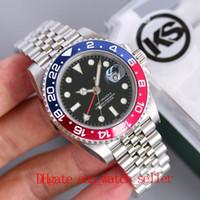5 Stili Top Quality KS Maker Pepsi Batman GMT 126710 126711 Giubileo 2836 Movimento meccanico automatico B &el in ceramica SS904L Impermeabile 50m