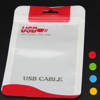 15 * 10.5 14 * 8cm Zipper Plastic Plastic Sac à repasser Package Hang Track Poly Emballage pour le câble USB Poly Oppack Sac d'emballage Bleu