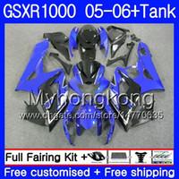 + Réservoir pour SUZUKI GSXR 1000 1000CC GSX R1000 bleu brillant 2005 2005 Carrosserie 300HM39 GSX-R1000 GSXR-1000 1000 CC K5 GSXR1000 05 06 Carénage