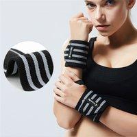 Bancos de peso 1pc gimnasio deportivo entrenamiento de potencia brazaletes escritura levantamiento de pesas protector de pulsación pulsación pulsera muñeca-banda envolver cinturón hombres mujeres 0
