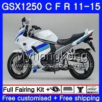 Body For SUZUKI blue white Bandit GSX1250F GSX1250FA GSX1250 C 11 12 13 14 15 310HM.13 GSXF1250 GSX1250C 2011 2012 2013 2014 2015 Fairing