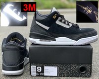 2019 3 Tinker Black Cement 3s CK4348- 007 Top Quality With Bo...