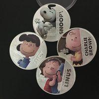 Арахис кино голливудский мультфильм Снупи Люси Линус Чарли Браун аниме посеребренная сувенирная монета set.4pcs / set