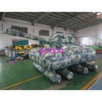 Tanques inflables de 3x2x2m para el juego de paintball, Air Paintball Tank Bunkers Obstáculo, modelo de aire para la promoción