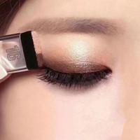 Lazy Double Color Eye Shadow Diamante Shimmer Eyeshadow Maquiagem À Prova D 'Água Mineral Mineral Pó Dupla-Camada Glitter Olho Sombra