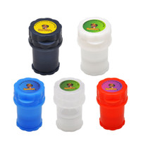 Honeypuff Med Container 3 부품 플라스틱 그라인더 트위스트 잠금 시스템 허브 그라인더 고정 트위스트 잠금 시스템 담배 흡연 허브 핸드 뮬러
