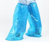 2백쌍 / 많은 얇은 미끄럼 방지 일회용 오버 슈즈 래프팅 라이드 긴 신발 부팅 비 / 방수 PE 가정 보호 제품 HA019 커버