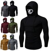 Fashion Slim Mens Gym Thin Hoodie Casual Long Sleeve Hoodies...