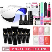 Extensão Gel Set prego Set Com Manicure máquina Poly Gel Nail Polish Para Secador Kit UV Led Lamp Art Kit Ferramentas