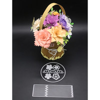 3D Metal Cutting Dies for Scrapbooking Flower Basket Stencil...