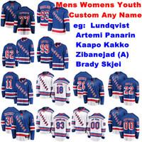 Womens New York Rangers Jerseys Henrik Lundqvist Jersey Artemi Panarin Kaapo Kakko Skjei Zibanejad Eishockey Trikots anpassen genähtes