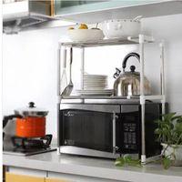 قابل للتعديل فرن الميكروويف الجرف انفصال الرف رفوف المطبخ أدوات المائدة الرئيسية حمام تخزين الرف حامل