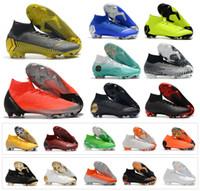 8f7e0a82d1b1b Mercurial Superfly VI 360 Elite FG KJ 6 XII 12 CR7 Ronaldo Neymar Hombres  Mujeres Chicos Zapatos de fútbol 20o Botas de fútbol Botines Tamaño 35-45