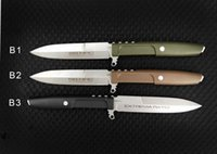 extrema ratio straight knife D2 Blade G10 Handle 60HRC Fixed...