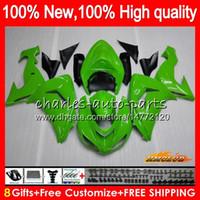 Cuerpo para Kawasaki ZX 10 R ZX1000 ZX10R 06 07 Carrocería 44HC.22 ZX1000 CC ZX10R 06 07 ZX ZX 10R 1000CC 2006 2007 carenado kit verde brillante