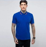 Hot Sale Men Solid Polo Shirt England Style 100% Cotton England Mens Classic T-Shirts Camisa Masculina Casual Polos Tees White Red Blue