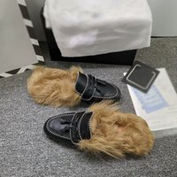 Brand Designer Shoes Loafers Ladies Slippers Genuine Leather...