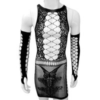Erotic Sheer Sissy Dress Lingerie Hollow out Vestido See thr...