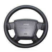 Для Jeep Compass 2006-10 ручной сшиты руль крышка черная искусственная кожа