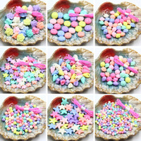 35g Accesorios de joyería de acrílico DIY Materiales hechos a mano Cuentas Primavera Candy Mix Color Scrub Gránulos Cuentas sueltas