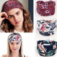 Boho Geniş Stretch Kadınlar Kafa Headwrap Turban Şapkalar Saç Bantları Geniş Yoga Saç Bandı Turban Kafa KKA7780 çevirin