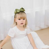 Children Large Ribbon Bow Knot Hair Band Fashion DIY Hair Ac...