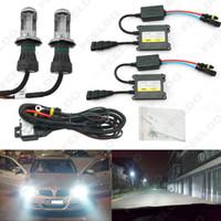 35W AC farol do carro H4 HID Xenon Bulb Hi / Lo feixe Bi-Xenon Lâmpada Digital Magro Lastro HID Kit # 4482