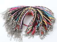 100pcs lot Multicolor Leather Braided Charm Chains Big Hole ...