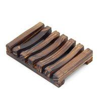 50шт 2 цвета 11см Vintage деревянный держатель мыла Держатели Слив лоток Ванная Душ Плита Stand Box Dish Ванна