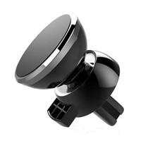 De alta calidad de titular del teléfono más nuevo magnético fuerte de aire del coche universal de montaje de la salida con el teléfono paquete al por menor cuna para Smart Mobile