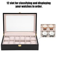 12Slot Wooden Painted Watch Display Storage Case High Qualit...