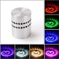 Hot Topmeed Kreative 3D Nacht führte Wandlampe RGB moderne Leuchte Lichtbeleuchtung Leuchte 3W AC85-265V Innenwanddekoration Licht