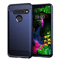 Carbon Fiber Texture Slim Armor Brushed TPU CASE COVER FOR LG G8S ThinQ W10 W30 Pixel 4 XL 280PCS/LOT