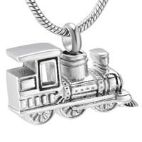 IJD10001 المقاوم للصدأ قطار الحرق جرة قلادة قلادة للنساء الرجال الذاكرة التذكار حرق المجوهرات عقد رماد