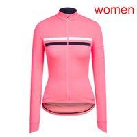 Rapha Team Cycling Jersey Womens Mangas largas Tops Camisas de carreras de carretera Trajes de bicicleta Uniforme de deportes al aire libre S21012713