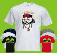 Panda Rocks Mens PRINTED T- SHIRT Cartoon Animal Funny Hip Ho...