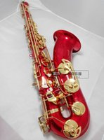Suzuki Profesyonel Tenor Saksafon B Düz Müzik Enstrüman Altın Anahtar Kırmızı Yüksek Kalite Pirinç İnci Düğmeleri